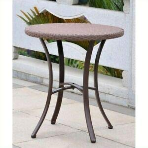 JumpingLight Barcelona Patio Bistro Table in Antique Brown Durable and Ideal for Patio and Backyard
