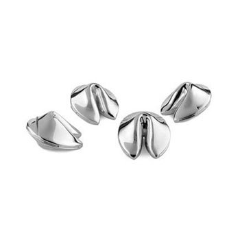 Lenox Fortune Cookie Silver Placecard Holders - Set of 4