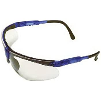 MSA Safety Works 10041055 Padded Brow Guard Safety Glasses, Blue ...