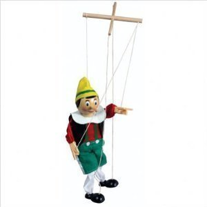 The Original Toy PINN Pinocchio Marionette, 15-Inch by The Original Toy Company (Marionette Pinocchio)