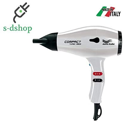 SD SHOP - DANA ITALIA COMPACT TURBO 5900 PHON ASCIUGACAPELLI HAIRDRYER  2200W BIANCO 126535fe176