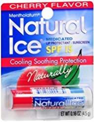 Mentholatum Natural Ice Lip Balm Cherry SPF 15 1 Each (Pack of ()