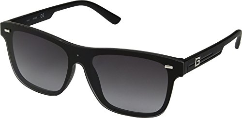 GUESS Unisex GF0183 Matte Black With Silver/Smoke Gradient Lens One Size