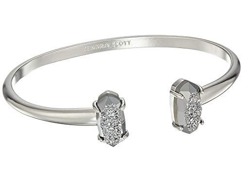 (Kendra Scott Edie Cuff Bracelet (Silver and Platinum Drusy) )