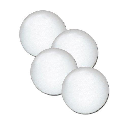Fat Cat Foosball/Soccer Game Table Soccer Balls: 36 mm Regulation Size Foosballs, Solid White, 4 Pack