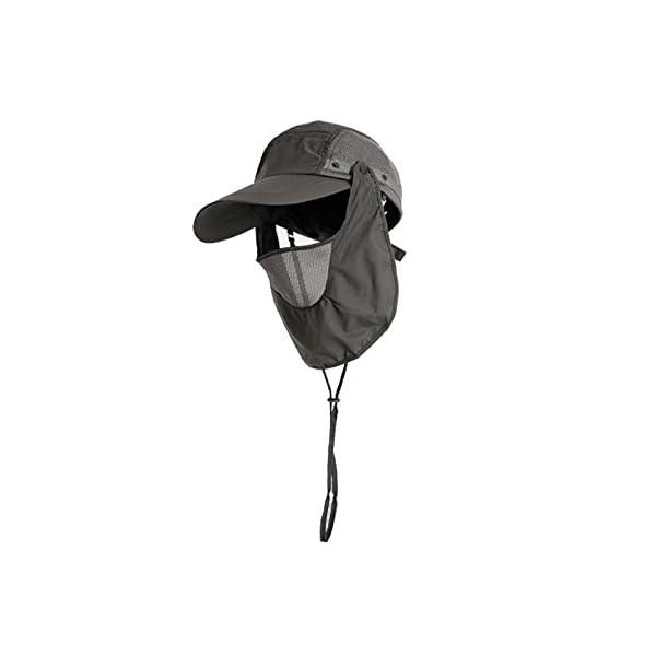 YUFUMAO Cappello Alpinismo Parasole per Protezione Solare Parasole Estraibile Berretto da Pesca Traspirante UV… 3 spesavip