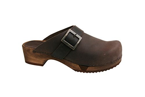Basic Brown Clogs Sanita Women's 78 Flex Grit Antique 6q8AwE84