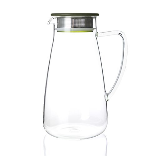 FORLIFE 838-A-GTE Flask Glass Iced Tea Jug, 64