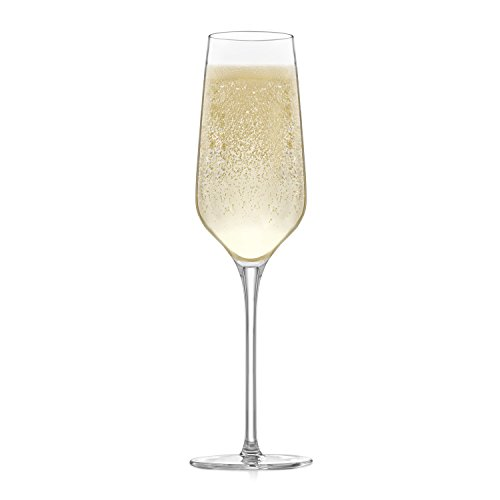 Libbey Signature Greenwich Champagne Flute Glasses, Set of 4