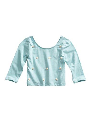 GUESS Kids Little Girl Jewel-Button Crop Top (2-6x)