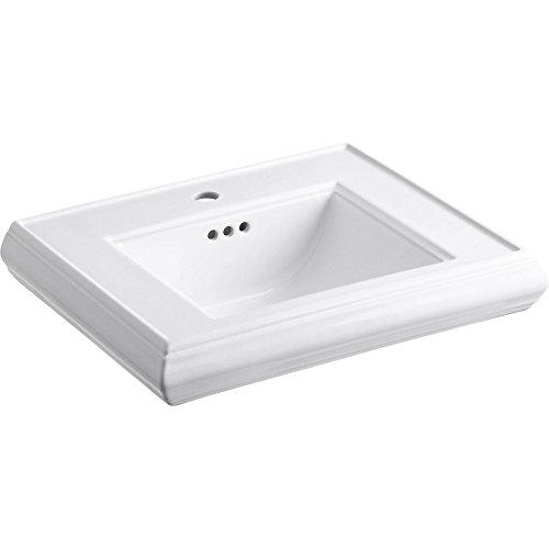 - KOHLER K-2239-1-0 Memoirs Pedestal Bathroom Sink Basin with Single-Hole Faucet Drilling, White