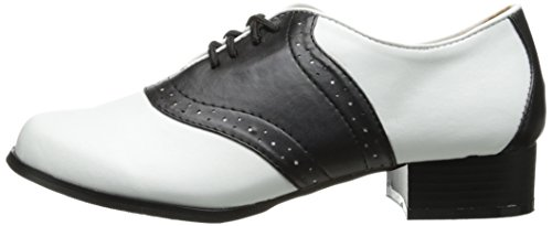 Ellie Shoes Women's 105 Saddle Oxford, Black/White, 8 M US