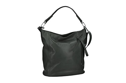 Bolsa mujer hombro shopper PIERRE CARDIN anthrazit cuero MADE IN ITALY VN2555