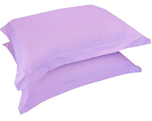 Mezzati Luxury Shams Set of 2 - Soft and Comfortable 1800 Prestige Collection - Brushed Microfiber Bedding(Lilac Lavender, Set of 2 Standard Size Shams ()