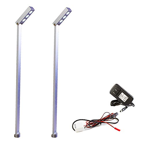 2 Showcase jewelry LED Light Pole Style FY-38 set with UL listed 12v 2A Power Supply ()