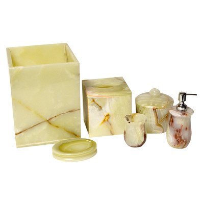 Polished Marble Decorative Cremation Urn with Lid, Espresso