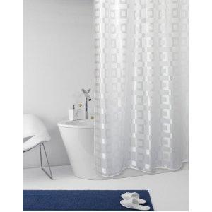 Duschvorhang Textil duschvorhang dama weiß mit struktur textil 180cm breit x 200cm lang