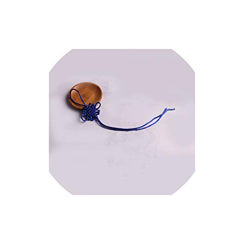 20Pc Mini Chinese Knots Tassel DIY Jewelry Home Textile Curtain Clothing Sewing Accessories Car Key Bag Pendant Craft Tassels,Sapphire Blue