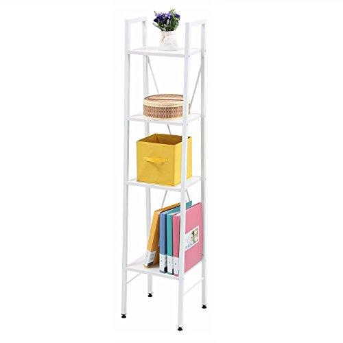 White Storage Ladder Shelf Shelves Shelving 4-Tier for Living Room Bedroom Kitchen Garage