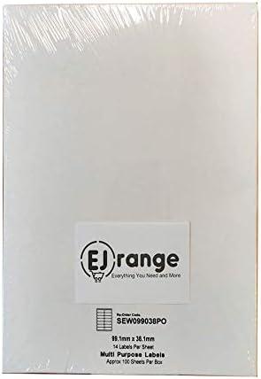 Hochwertige bedruckbare Klebe-Etiketten//labels 100 Blatt in Box Avery Code L7160 J8160 oder 21 Etiketten pro Blatt