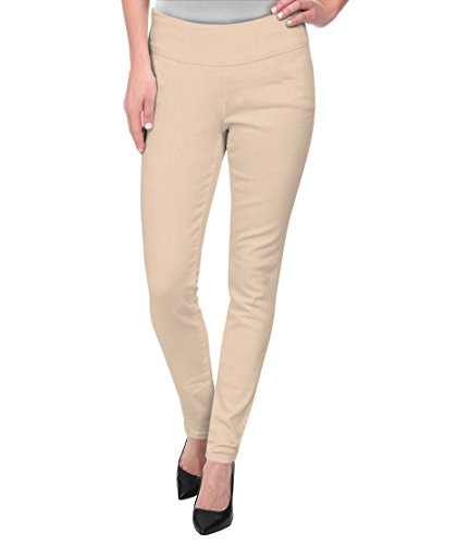 (HyBrid & Company Super Comfy Stretch Pull On Millenium Pants KP44972 Stone XL)