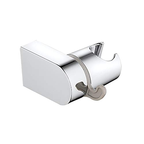 PIH Wall Mounted Shower Bracket for Handheld Shower, Large Angle Adjustable to Meet Any Space Bathroom, w/Bath Ball Hook- Chrome