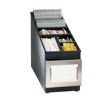 Dispense Rite NLS and WLS Black Polystyrene Organizer, 15 3/4 x 8 1/2 x 24 1/2 inch -- 1 each.