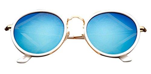 ultravioleta para redondas Tide sol de polarizadas retro sol Frame JYR hombre anti Blue y mujer Gafas de Gafas Gafas White xCIwOqa