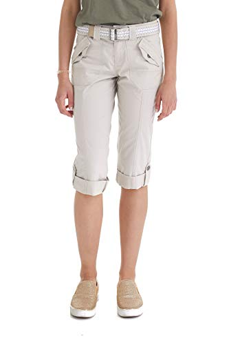 Suko Women Cargo Pants Adjustable Capri 17050 Stone 8