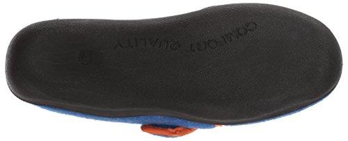 Kamik Boys' Cozylodge Slipper, Blue/Orange, 5 Medium US Toddler - Image 3
