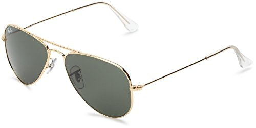 Ray-Ban Aviator Small Metal RB3044 Sunglasses Arista / Crystal Green 52mm & Cleaning Kit - Ray Aviator Small Ban Metal