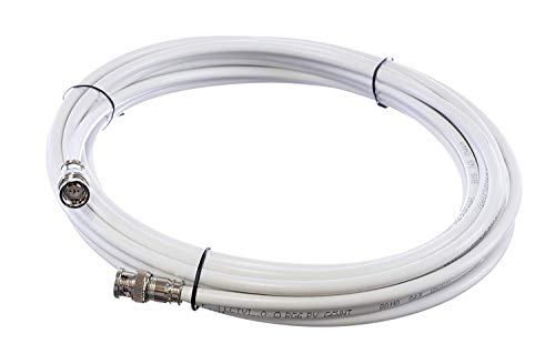 THE CIMPLE CO - BNC Cable, Made in The USA, White RG6 HD-SDI and SDI Cable (with Two Male BNC Connections) – 75 Ohm, Professional Grade, Low Loss Cable – 20 feet (20') ()