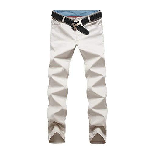 Solidi Libero Colori Casual Da Chino Marca Mode Tempo Dritti Stoffa Il Di Cotone Moda Pantaloni Uomo Per Trachtenhose Lunghi fXwX1qO