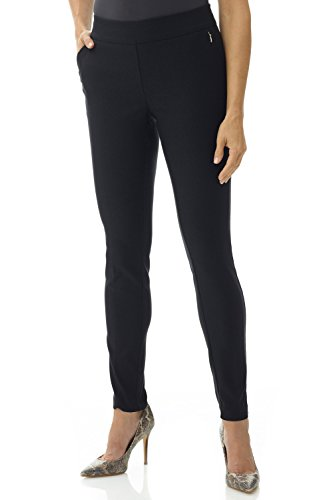 Rekucci Women's Ease in to Comfort Modern Stretch Skinny Pant w/Tummy Control (8,Black) - Skinny Stretch Pants