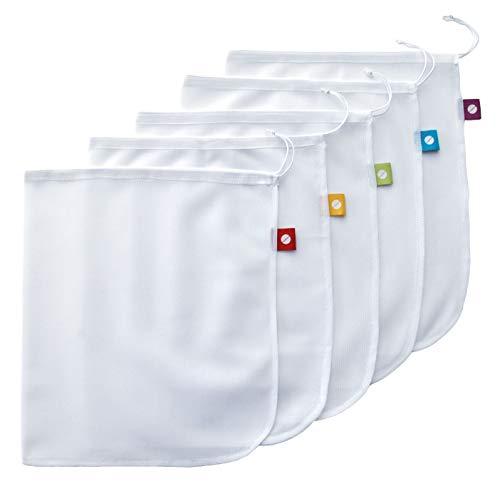Flip & Tumble Reusable Produce Bag for Fruits and Veggies, White, One Size (Model:PBNA001)