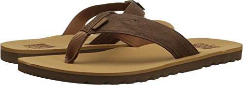 Premium Flip Voyage Men Tan Leather Flops Mens Real Reef Soft Cushion with for Waterproof Sandal Footbed zwqtEZY