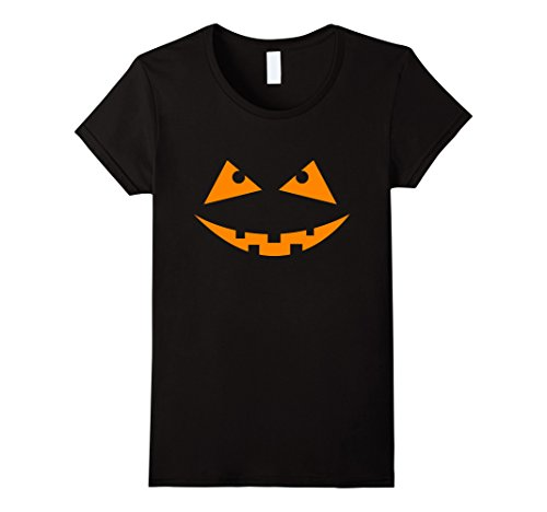 Womens Halloween Pumpkin cut out face T shirt Medium Black - Cut Out Halloween Pumpkin Face