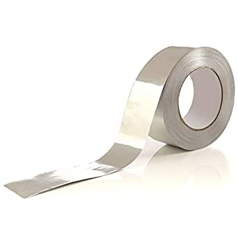 Aluminum Tape/Aluminum Foil Tape – Professional/Contractor-Grade - 1.9 inch x 150 feet (3.4 mil) - Perfect for Sealing & patching hot and Cold HVAC, Duct, Pipe, Insulation Home and Commercial