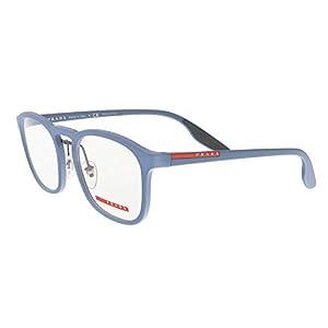 Prada Linea Rossa Men's PS 06HV Eyeglasses Opal Avio Rubber 52mm
