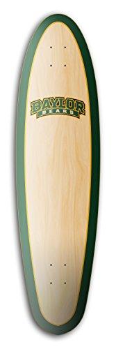 (ztuntz skateboards Baylor University Bears Sidewalk Rider Longboard Deck, 9.65 x 37 x 23-Inch, Green/Gold/Brown/Natural )