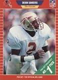 #9: 1989 Pro Set Football Rookie Card #486 Deion Sanders Mint