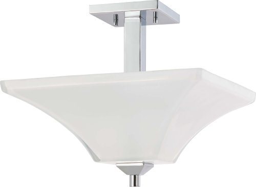Nuvo Lighting 60/4007 Two Light Semi Flush Mount, 2Lt, Polished Chrome