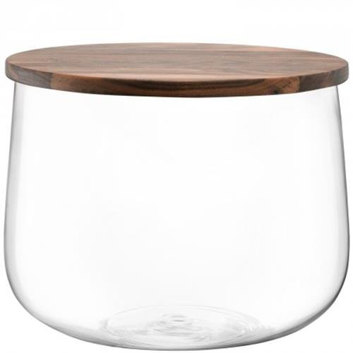 LSA International City Bowl & Walnut Lid, 12.5'', Clear