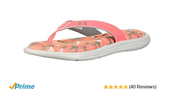 new styles ec544 2e059 Amazon.com  Under Armour Women s Marbella Digi VI Thong Flip-Flop  Shoes