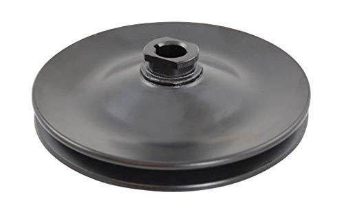 GM & Chevy 67-84 Black Steel Single Groove Power Steering Pulley (Gm Power Steering Pulley)