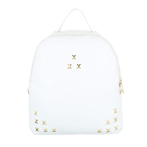Ital-Design - Bolso mochila  de Material Sintético para mujer Weiß