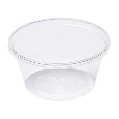 CiboWares 2 oz Clear Portion Cups, Made from PLA Lined Bio-Plastic Materials, Case of 2500 from CiboWares