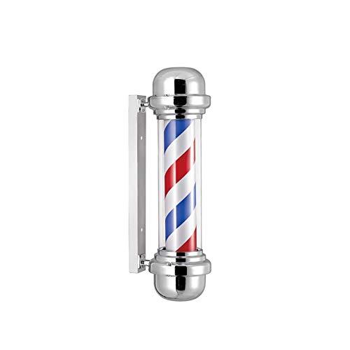 サロンポール 美容院のターンライト LEDライン バーバーポール 理髪店用 サインウォールライト 回転ライト 屋外ウォールライト B07MLZG3D9