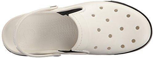 Crocs Citilane Clog Whi/Blk, Zoccoli Unisex – Adulto Bianco (White/Black)
