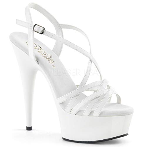 Pleaser Womens DELIGHT-613/W/M Sandals White